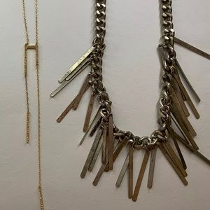 Baublebar Gold Y Chain and Statement Necklaces